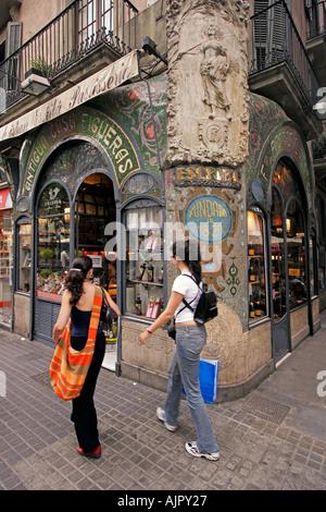 spain Barcelona patisserie at the ramblas - Stock Photo