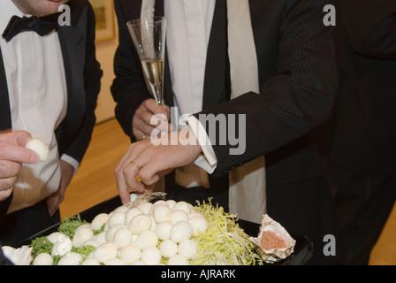 Black tie formal charity dinner London  HOMER SYKES - Stock Photo