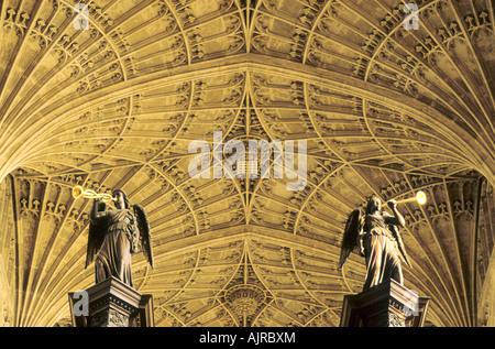 Kings College Chapel Cambridge fan vault - Stock Photo