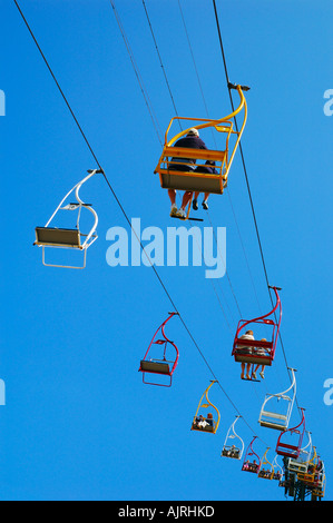Chairlift at Alum Bay The Needles, Isle of Wight, England - Stock Photo