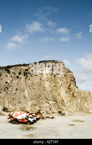 Trucks in Quarry  - Stock Photo