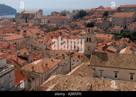 Roof tops Dubrovnic Dalmatia Croatia - Stock Photo