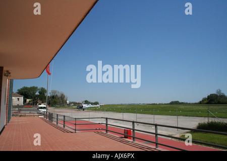 Newly renovated Nicelli airport at Venice Lido, Italy - Stock Photo
