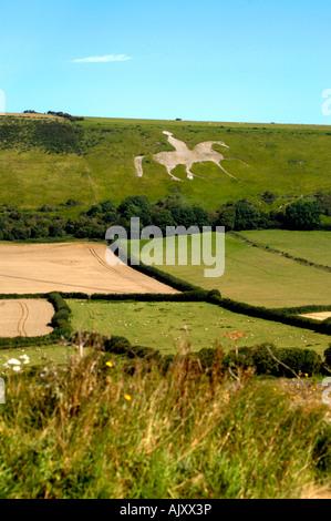 White Horse, Osmington near Weymouth, Dorset UK - Stock Photo