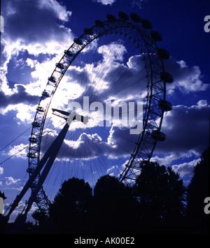 Coca-Cola London Eye, near County Hall, Waterloo, London, England, United Kingdom - Stock Photo