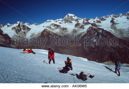 Mountaineer in the Andes / Bergsteiger in den Anden - Stock Photo