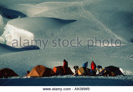 Mountaineer camp in Andes / Zeltlager in den Anden - Stock Photo