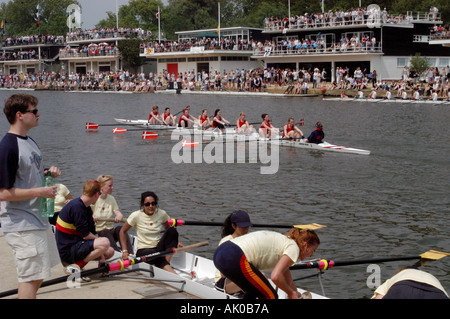 Eights week on the river Isis at Oxford 2003 - Stock Photo