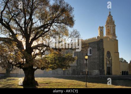 Iglesia de San Gabriel, Ex convento de San Gabriel, Cholula, Mexico - Stock Photo