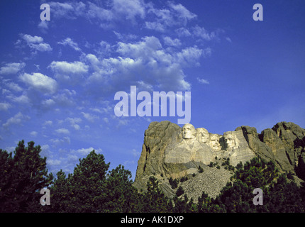 Mount Rushmore National Historic Memorial near Rapid City - Stock Photo
