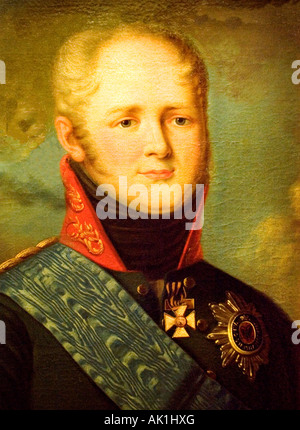 War Museum Brussels Portrait Czar  Tsar Alexander 1 1801 1825 - Stock Photo