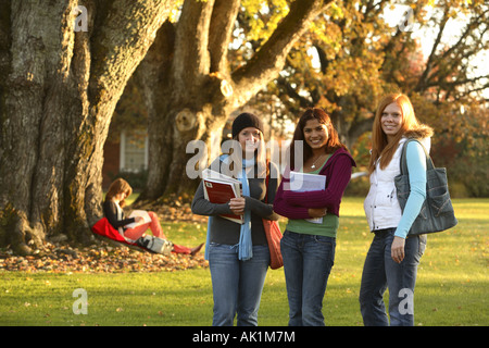 Group of female college students - Stock Photo