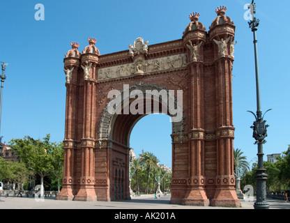 Arc de Triomf, Paseaig Lluis Campanys, Barcelona, Catalunya, Spain - Stock Photo