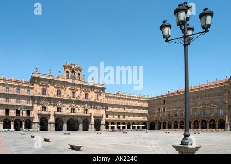 Ayuntamiento (Town Hall) in the Plaza Mayor (Main Square), Salamanca, Castilla y Leon, Spain - Stock Photo