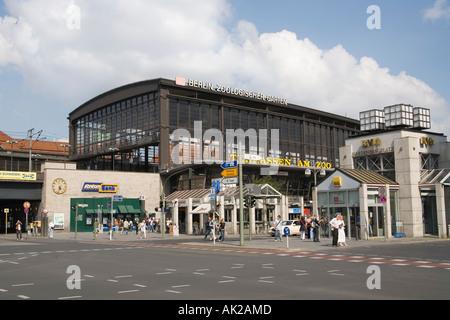 Zoo station (Bahnhof Zoologischer Garten), Hardenbergplatz, Berlin - Stock Photo