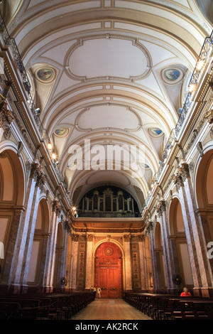 Metropolitan cathedral inside view. Main door.  Buenos Aires, Argentina - Stock Photo