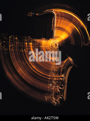 Still life. Musical instrument. Saxophone. - Stock Photo