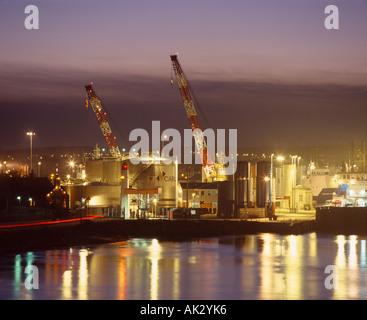 Aberdeen Harbour, Aberdeen, Scotland, UK - Stock Photo