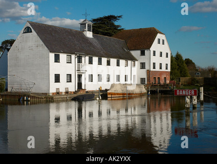This is the former watermill now Apartments at Mill End, near Hambleden, Buckinghamshire, England, UK - Stock Photo