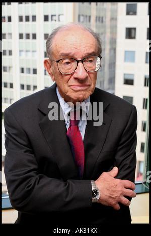 Alan Greenspan at his office in Washington DC - Stock Photo