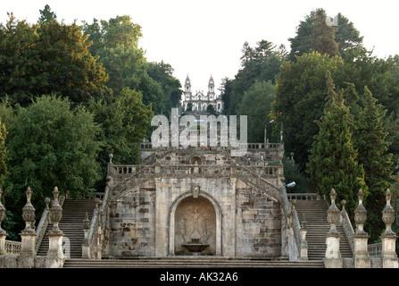 Santuario do Nossa Senhora dos Remedios, Lamego, Viseu, Portugal - Stock Photo