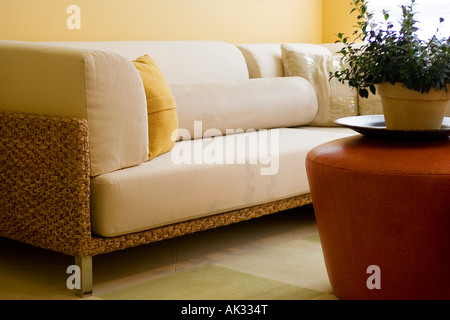 Detail of Contemporary Sofa in Living Room - Stock Photo
