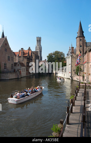 Canal view near the Fish Market, Bruges (Brugge), Belgium - Stock Photo