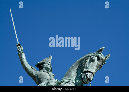 equestrian statue honoring Tadeusz Kosciuszko in Park across from Polish Basilica of St. Josaphat in Milwaukee, - Stock Photo