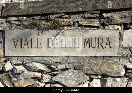 street viale delle mura bergamo italy - Stock Photo