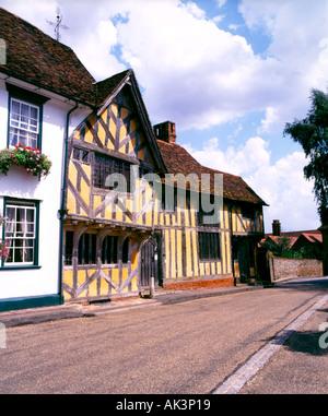 Merchants House Lavenham Suffolk County England UK United Kingdom GB Great Britain British Isles EU European Union - Stock Photo