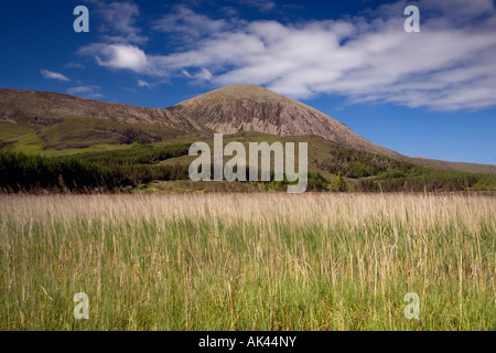 View of Beinn Na Caillich from the Elgol road Isle of Skye - Stock Photo