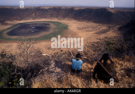 Gof Bongoli Marsabit Mountain northern Kenya East Africa - Stock Photo