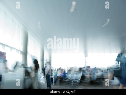 Airport lounge, blurred - Stock Photo