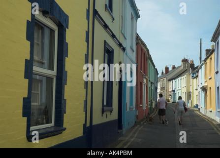 Multicoloured houses, Irsha Street, Appledore. Devon. England. UK - Stock Photo