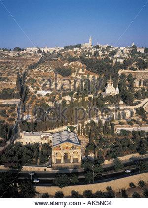 Jerusalem Mount of Olives Russian church - Stock Photo