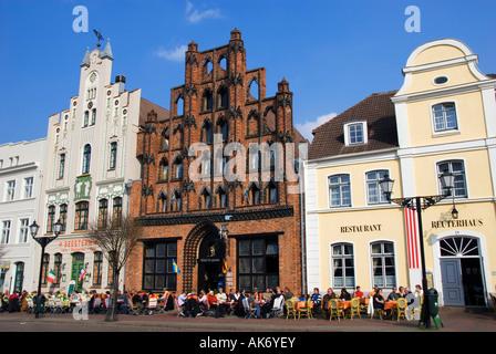 Restaurants/ Wismar - Stock Photo