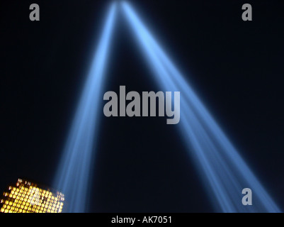 Tribute of Lights 2003 WTC New York, NY Downtown NYC World Trade Center ©mak - Stock Photo