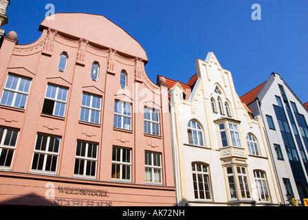 Row of houses / Wismar - Stock Photo