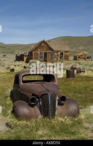 Ghost town Bodie, USA, California, Bodie State Historic Park - Stock Photo