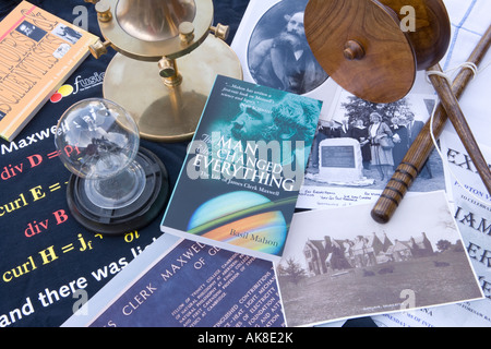 Memorabilia associated with the scientists James Clerk Maxwell including a Radiometer Dynamical Top Deil an Twa - Stock Photo