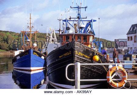 Stornoway harbour on the Isle of Lewis Scotland - Stock Photo