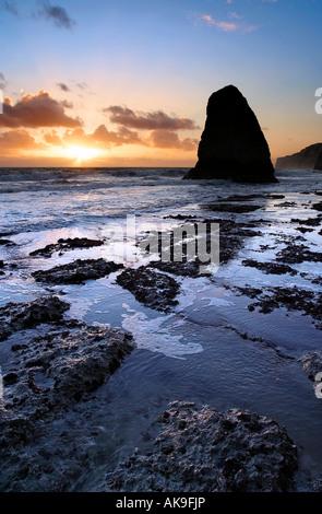 Freshwater Bay, Isle of Wight, UK - Stock Photo