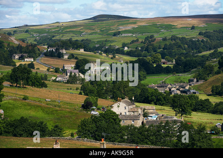 Langthaite Village Arkengarthdale Yorkshire Dales National Park England - Stock Photo
