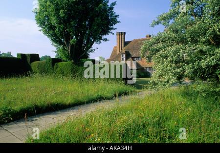 Great Dixter Sussex wild flower meadow - Stock Photo