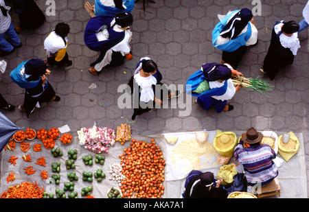 Fruit market. Otavalo. Ecuador. Southamerica - Stock Photo
