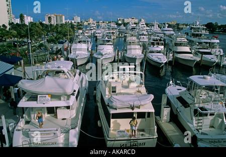Fort Lauderdale International Boat Show Florida USA - Stock Photo