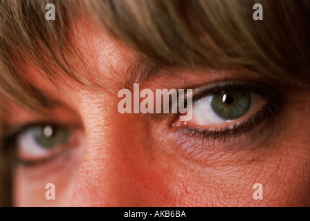 Some would look and say that this girl s emerald green eyes are the beautiful windows of her soul - Stock Photo