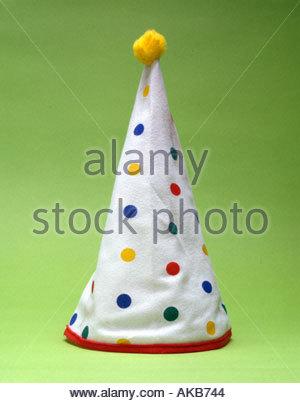 still life a clowns hat - Stock Photo
