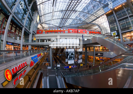 Berlin Central Train Station, Berlin, Germany - Stock Photo
