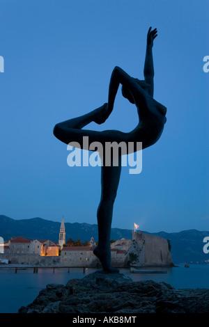 Statue, Stari Grad (Old Town), Budva, Montenegro - Stock Photo